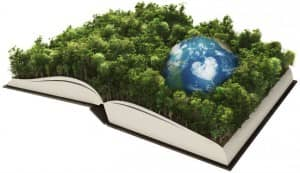otvorena knjga i Zemlja
