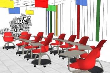 Učionica 4B - Nod stolice raspoređene u polukrug