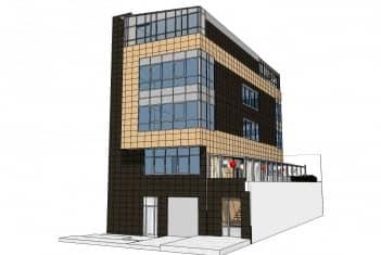 Zgrada škole - ulaz u zgradu