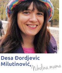 Desa Milutinović. majka učenika Savremene