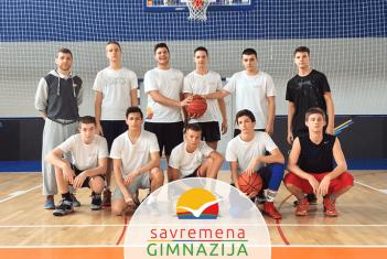 Košarkaški tim Savremene gimnazije hrabro se borio u četvrtfinalu