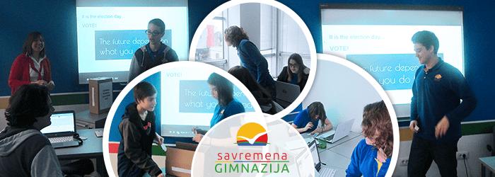 Učenici Savremene gimnazije prate predavanja