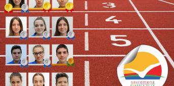 Čak 10 medalja za savremene gimnazijalce na takmičenju u atletici