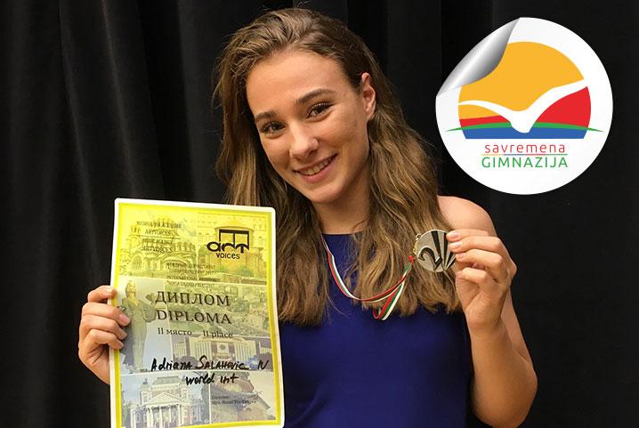 Nagrada na međunarodnom pevačkom takmičenju za Adrianu Salahović