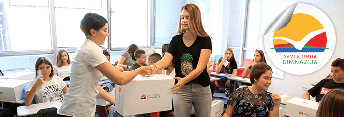 prvi školski dani u Savremenoj gimnaziji u Beogradu