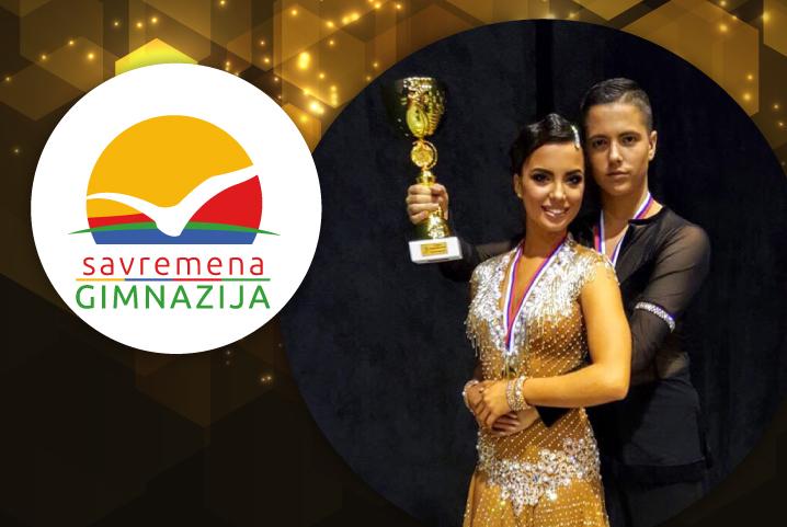 Prvo mesto i zlatna medalja za Mašu i Martina Radulovića na Državnom prvenstvu Srbije u plesu