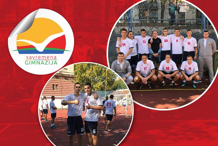 Učešće savremenih gimnazijalaca na opštinskom takmičenju u fudbalu