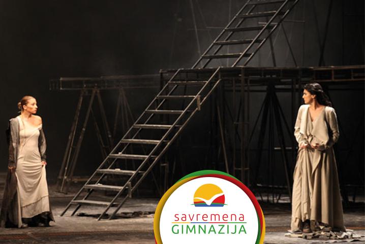 """Savremeni gimnazijalci uživali u Narodnom pozorištu uz predstavu """"Antigona"""""""