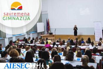 """AIESEC promocija projekta """"Globalne škole preduzetništva"""" za savremene gimnazijalce"""
