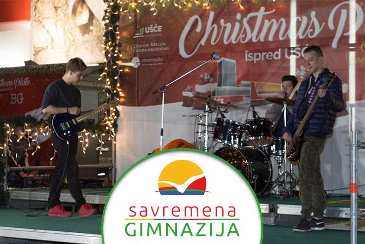 """Nastup Gimnazijalaca na Christmas Platzu ispred """"Ušća"""""""
