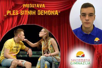 """Učenici uživali u glumi drugara Budimira Stošića u predstavi """"Ples sitnih demona"""""""
