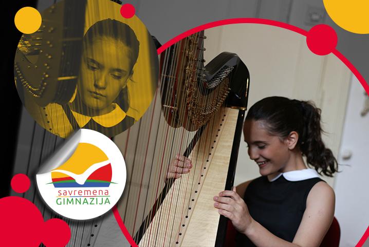 Savremena harfistkinja Irina Pejoska održala solistički koncert u Beogradu