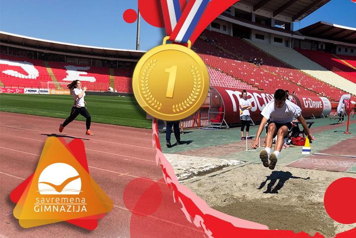 NOVI ATLETIČARSKI USPESI: 4 zlatne medalje stigle u Savremenu gimnaziju