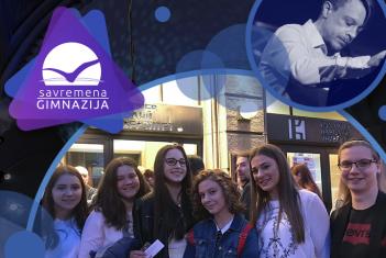 """""""Rapsodija u plavom"""" u Kolarcu: Učenici uživali u izvođenju Matije Dedića i Vojvođanskog simfonijskog orkestra"""