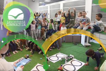 Beogradski predškolci u poseti Savremenoj gimnaziji (VIDEO)