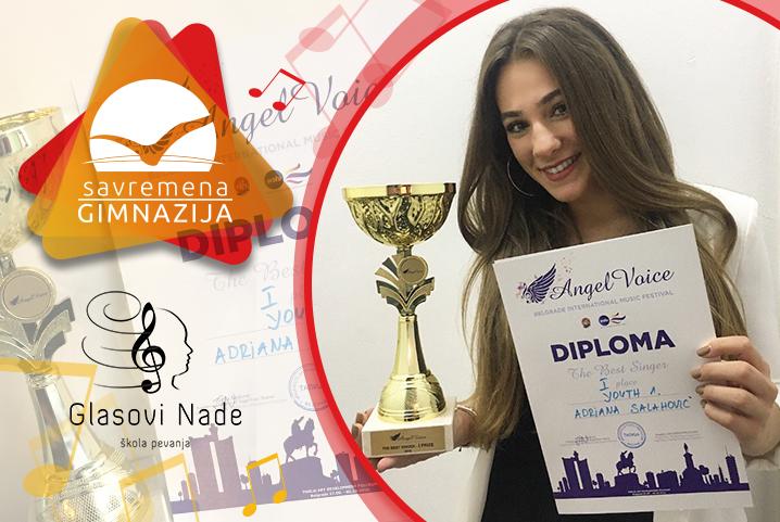 """Navikla nas na uspehe: Prvo mesto za Adrianu Salahović na internacionalnom pevačkom festivalu """"Angel Voice"""""""