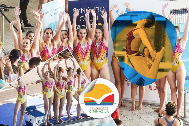 Pljušte medalje: Dora Vaščanin, savremena reprezentativka u sinhronom plivanju, opet na tronu