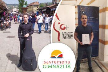 Nikola Milosavljević nastavlja sa uspesima: Učešće na Guitar Art Festivalu i prva nagrada na internacionalnom takmičenju u Sarajevu