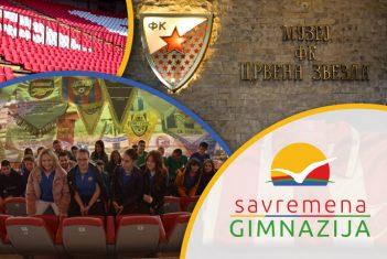 """Savremeni gimnazijalci posetili Stadion """"Rajko Mitić"""" i Muzej """"FK Crvena zvezda"""""""