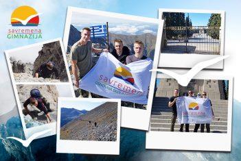 Učenici pokorili Olimp: Zastava Savremene gimnazije se zavijorila na drugom najvišem vrhu Balkana!