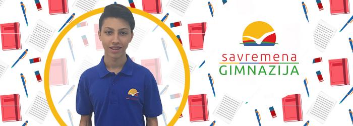 Učenik koji je osvojio drugo mesto na međunarodnom Svetosavskom konkursu