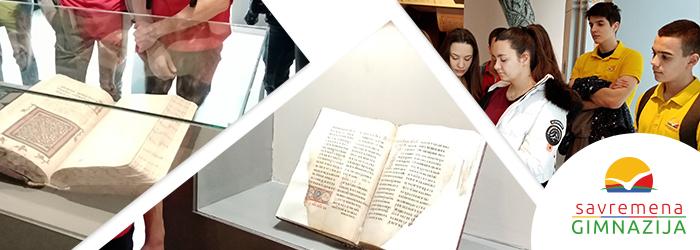 Učenici verske nastave u Galeriji Srpske akademije nauka