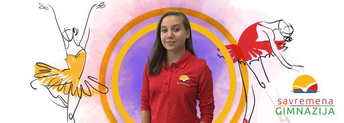 Učenica Savremene gimnazije Tamara Jakuš kao balerina