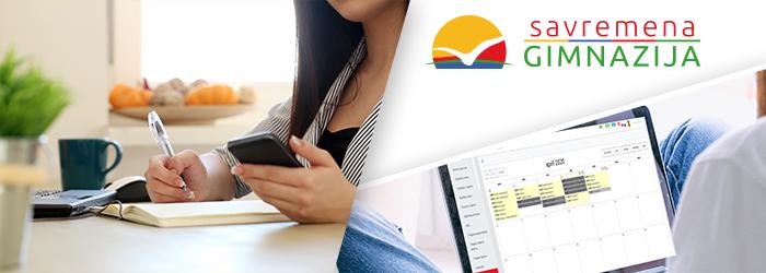 Učenici rade domaće zadatke preko DL platforme