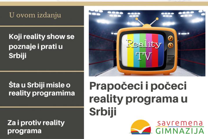 Zabavan projektni zadatak u Savremenoj: Medijski fenomeni i rijaliti programi