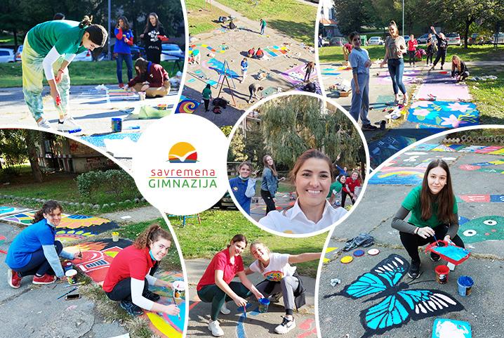 Od savremenih gimnazijalaca za mališane - park ispunjen bojama i radošću