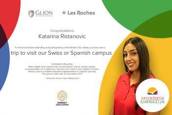 Katarina Ristanović sprema se za put u Švajcarsku ili Španiju