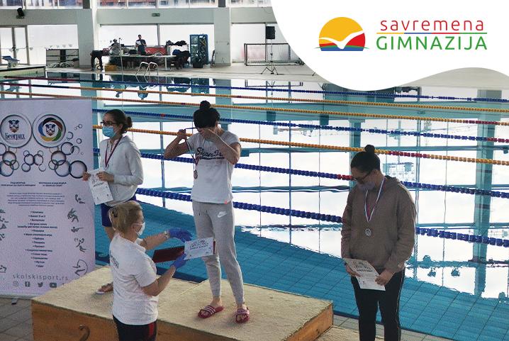 Veliki uspeh savremenih gimnazijalaca na gradskom takmičenju u plivanju!